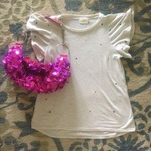 NWOT Hot pink fuchsia hologram sequins purse
